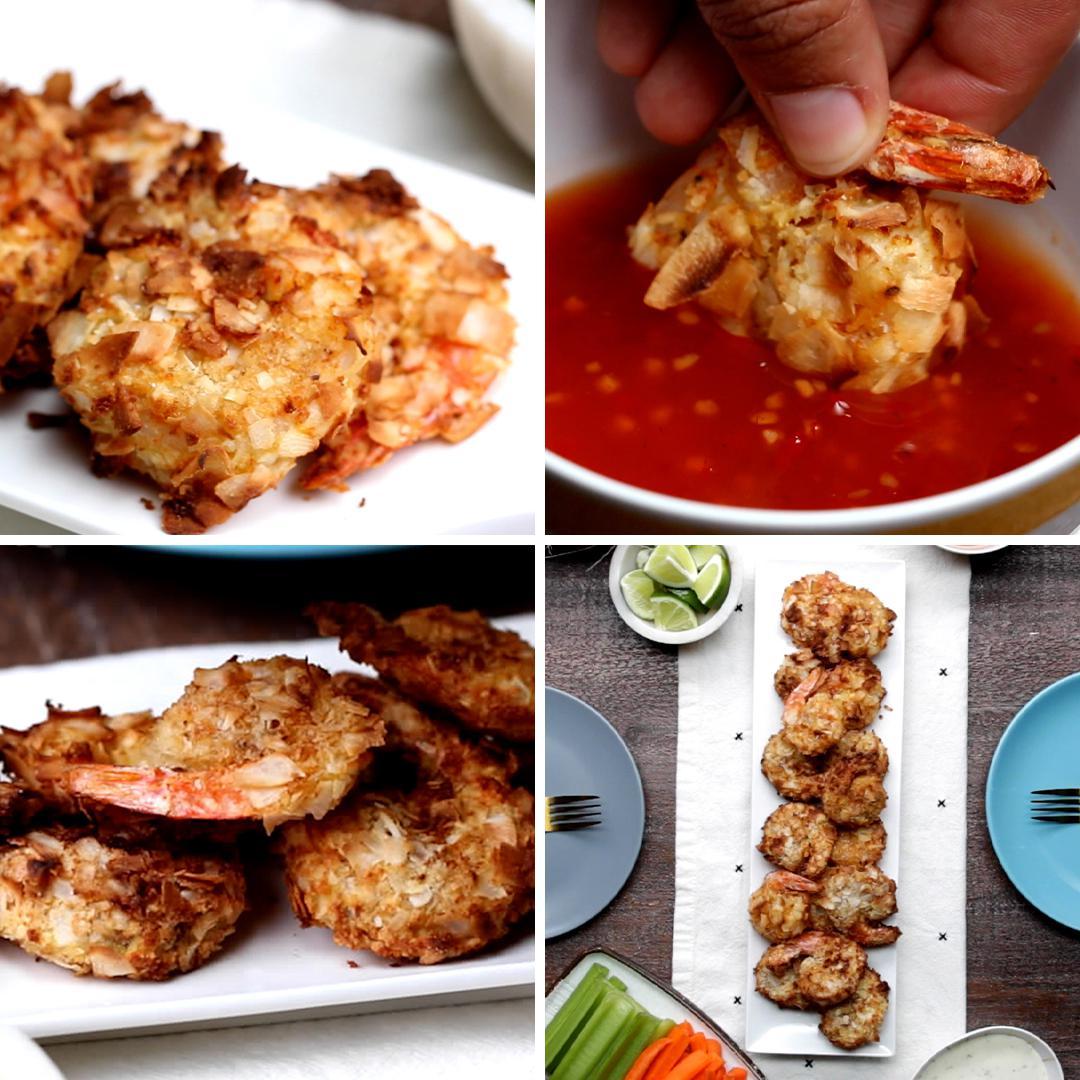 Air Fryer Coconut Shrimp Recipe By Tasty