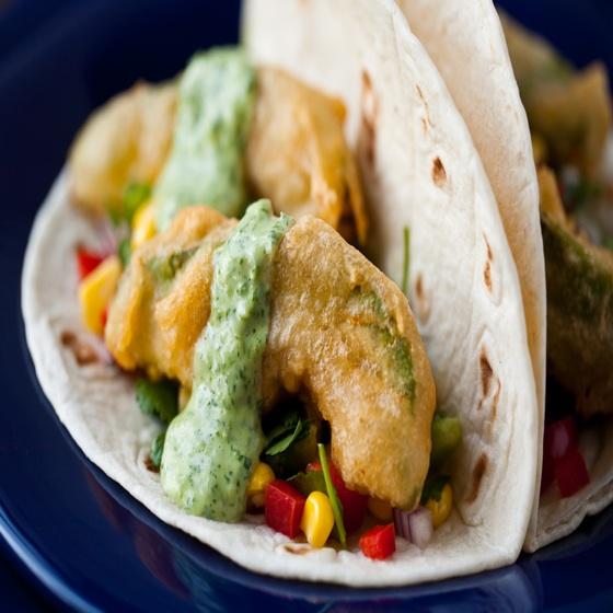 Beer Battered Fried Avocado Tacos   Recipe Cloud App